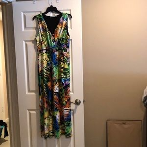 NY collection tropical vibe maxi dress